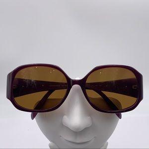 Adrienne Vittadini 5050 Purple Oval Sunglasses